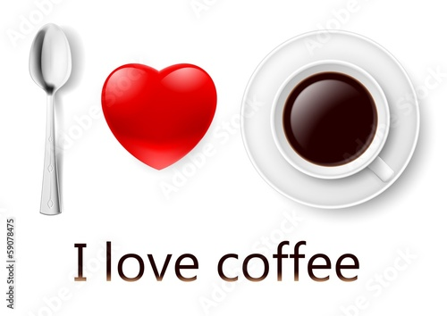 I love coffee.