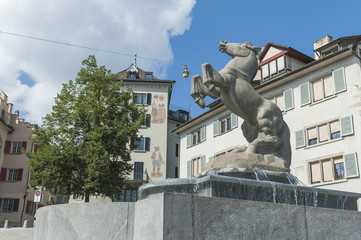 Zürich, historische Altstadt, Hirschgraben, Schweiz