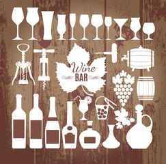 Wine background set. Design element.