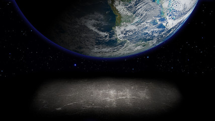 Planet in space. Elements of this image furnished by NASA.