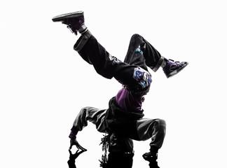 hip hop acrobatic break dancer breakdancing young man handstand