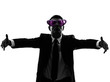 loving business man with funny glasses silhouette