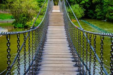 Eine Brücke im Dschungel