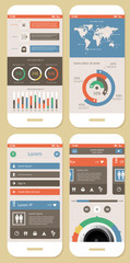 Vector Flat Elements of Infographics