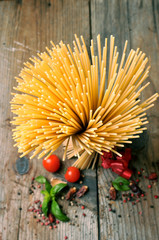 Italian spaghetti still life