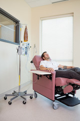 Patient Relaxing During Chemotherapy