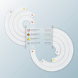 Infinity Modern Curve Circle Infographic Design Template