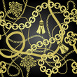 Gold chain seamless vector background. - 59083281