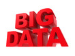 Big Data - Red Text Isolated on White.
