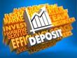 Deposit. Wordcloud Concept.