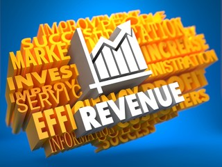 Revenue. Wordcloud Concept.