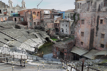 Roman theatre in Catania, Italy