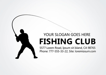 Fishing logo, fisherman logotype