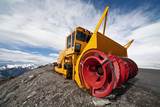 snow removal equipment in the mountains