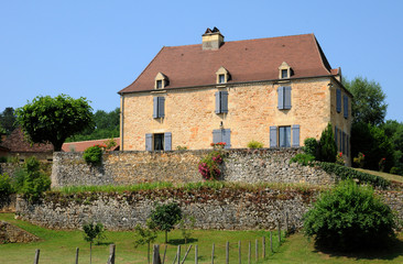France, an old house in Castelnaud la Chapelle