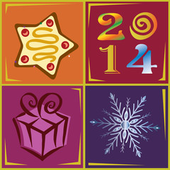 2014 New Year holiday vector illustration