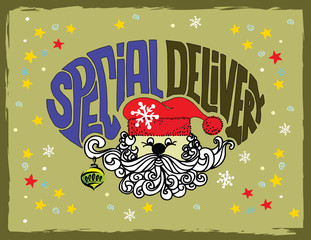 Special delivery vintage stylish illustration