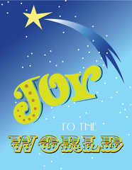 Joy to the World holiday illustration