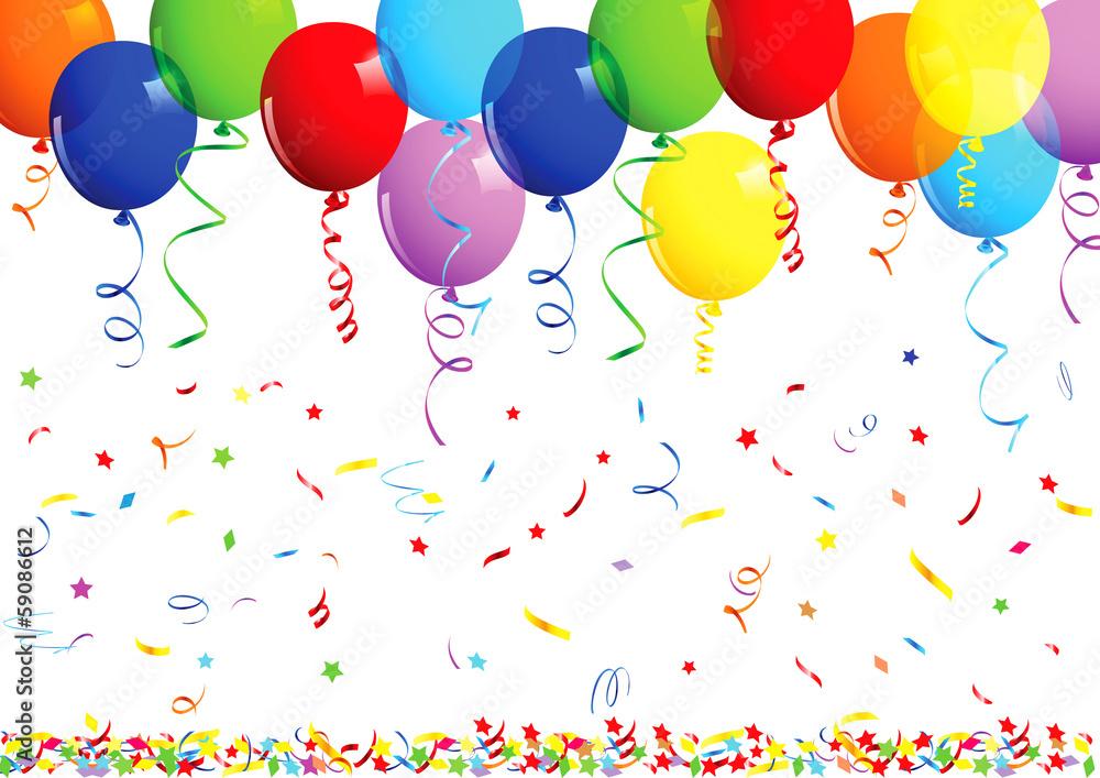 Happy Birthday Balloons Sticker By Stickersticker