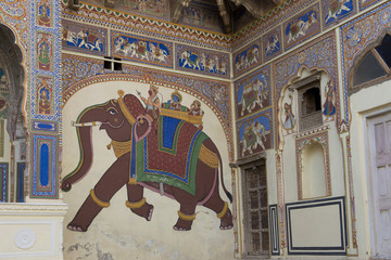 Decorated Haveli in Mandawa
