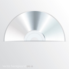 white CD in cover