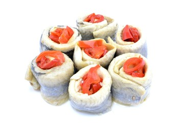 Herring rolls with paprika