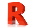 3d red letter - R