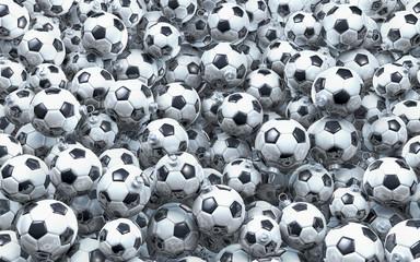 Fußball Weihnachtskugeln schwarz weiß