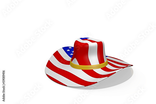 stetson with american flag
