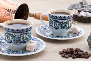 Turkish Coffee Set Close-up