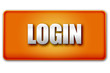 Login 3D Orange Button on White Background