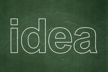 Marketing concept: Idea on chalkboard background