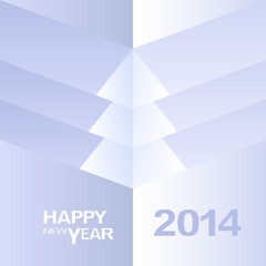 Happy New Year Christmas Tree design