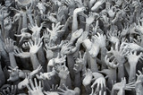 Many White Hands from Hell,  Buddhist architecture at Wat Rong K