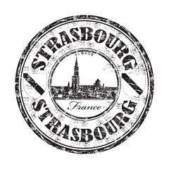 Strasbourg grunge rubber stamp