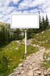 Blank Billboard Sign Along Mountain Trail