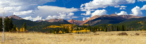 Colorado Rocky Mountain Fall Panoramic Landscape - 59092223