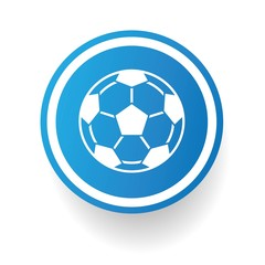Football symbol,Blue button,vector