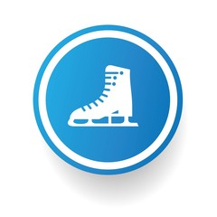 Skate symbol,Blue button,vector