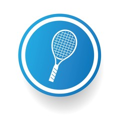 Badminton symbol,Blue button,vector