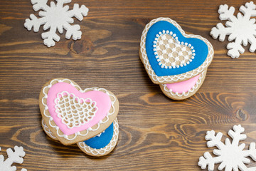 Heart shape gingerbread  cookies