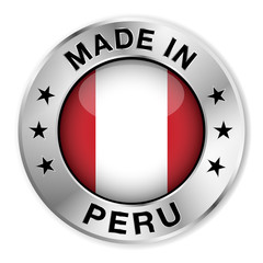 Made In Peru Silver Badge