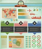 Transport Infographics,Graphic design,retro style