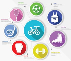 Sports concept,Colorful version,vector