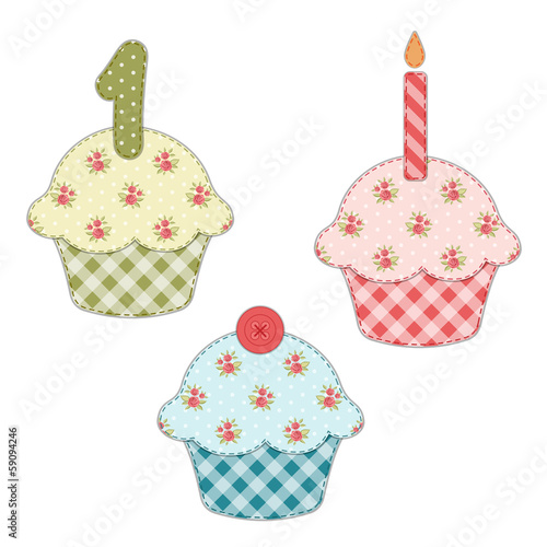 Cupcake retro applique 9
