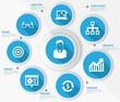 Business management concept,Blue version,vector