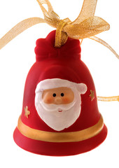 New Year or Christmas bell with Santa Claus