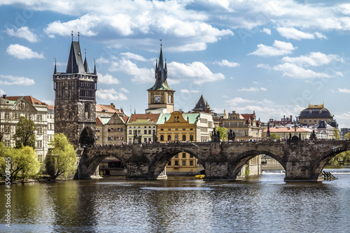 Foto op Canvas Praag Prague, Charles Bridge (Karluv Most)