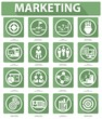 Flat Marketing Icons,Green version,vector