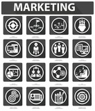 Flat Marketing Icons,Black version,vector